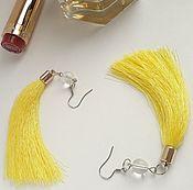 Украшения handmade. Livemaster - original item Earrings brush yellow