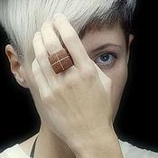 Украшения ручной работы. Ярмарка Мастеров - ручная работа Перстень квадрат (объемной формы). Handmade.