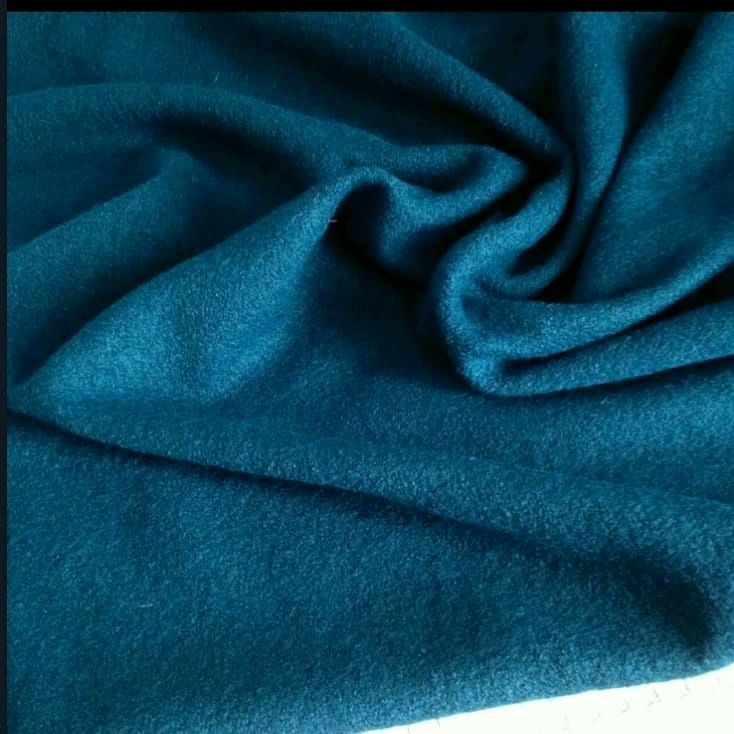Ткань лоден(вареная шерсть ) цвет петроль, Ткани, Москва,  Фото №1
