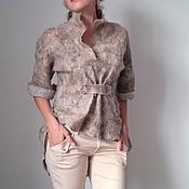Одежда ручной работы. Ярмарка Мастеров - ручная работа Туника, жакет, рубашка,  валяная. Handmade.