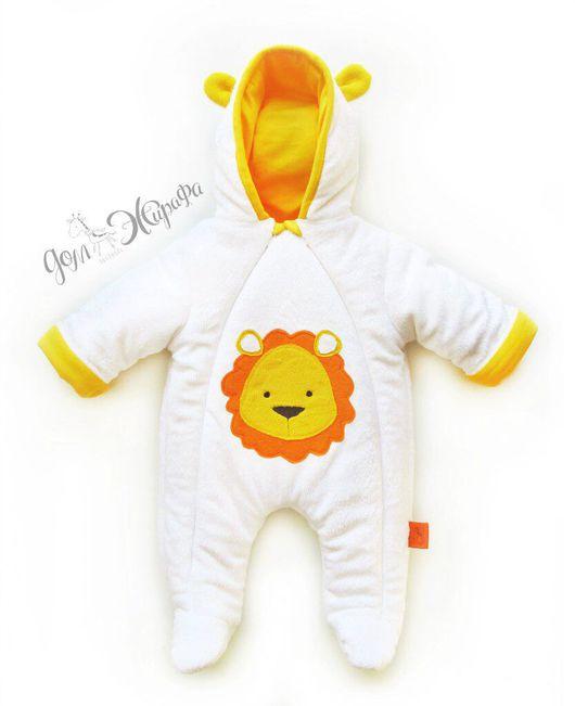 """Одежда ручной работы. Ярмарка Мастеров - ручная работа. Купить Комбинезон для малыша """"Львёнок"""". Handmade. Комбинезон, комбинезон детский, для новорожденных"""
