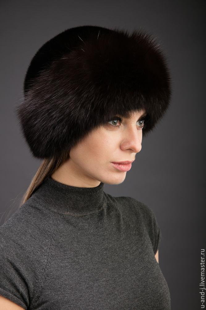 Меховая шапка Боярка с соболем и норкой, Аксессуары, Москва, Фото №1