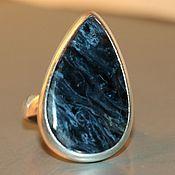 "Phalanx ring handmade. Livemaster - original item ""NATURAL PICTURE"" -peter`s crocodilite-blue ironstone. Handmade."