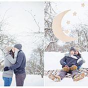 Сувениры и подарки ручной работы. Ярмарка Мастеров - ручная работа Оформление фотосессии лавстори свадебной фотозона луна. Handmade.