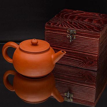 Посуда ручной работы. Ярмарка Мастеров - ручная работа Заварочный чайник в подарочной шкатулке, ручная лепка. Handmade.