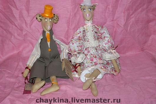 Ароматизированные куклы ручной работы. Ярмарка Мастеров - ручная работа. Купить Мыши Захар (Зая) и Констанция (Котя). Handmade. Мышь