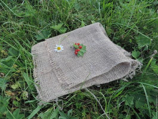Шитье ручной работы. Ярмарка Мастеров - ручная работа. Купить ткань лен крупная сетка декоративная. Handmade. Лен