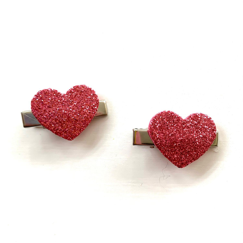 Заколочки-сердечки мини, Заколки и резинки для волос, Москва,  Фото №1