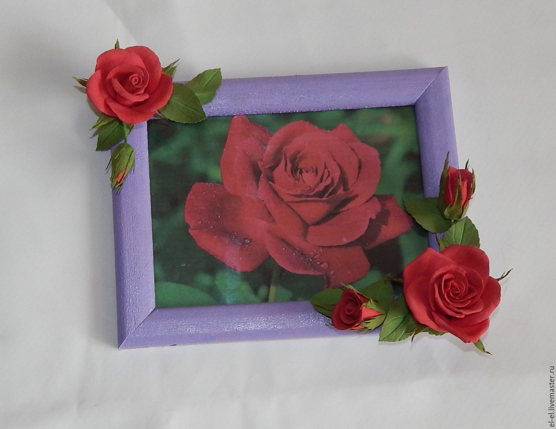 Рамка для фото с цветами из фоамирана