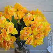 Нарциссы букет 21цв. желтый, 38см