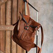 Сумки и аксессуары handmade. Livemaster - original item Leather backpack Pilgrim Red. Handmade.