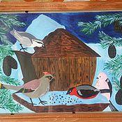 """Картины и панно ручной работы. Ярмарка Мастеров - ручная работа Картина """" Птичья столовая"""". Handmade."""