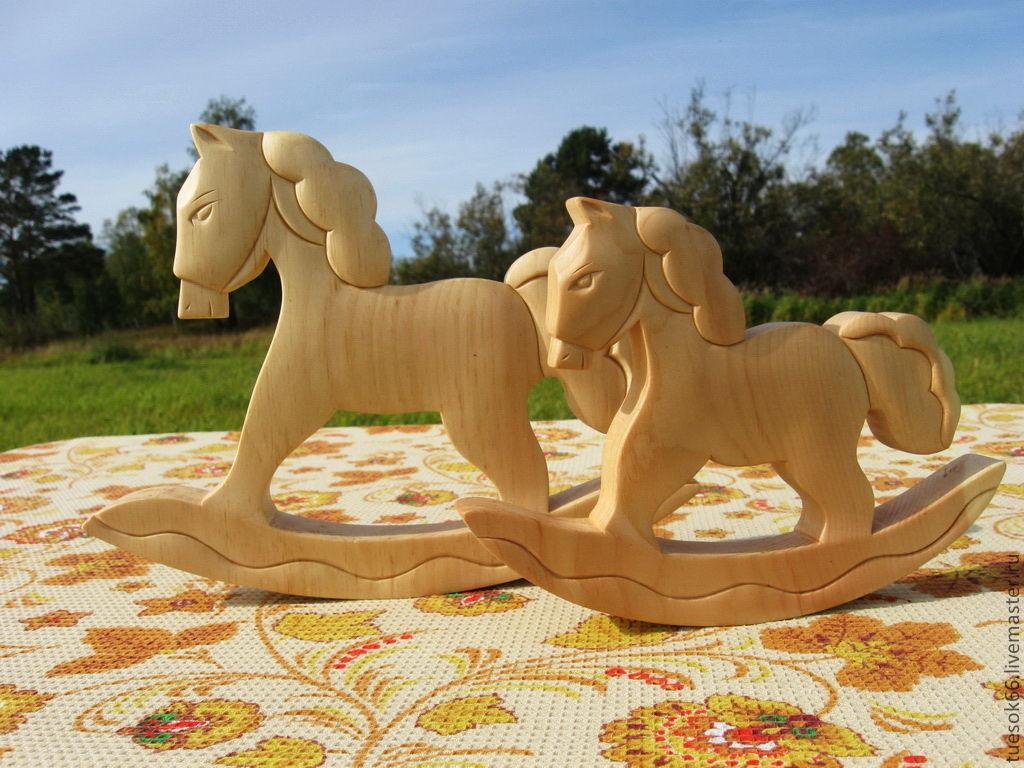 Игрушки животные, ручной работы. Ярмарка Мастеров - ручная работа. Купить Деревянная лошадка качалка. Handmade. Лошадка-качалка