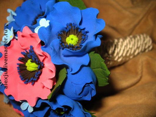 Свадебные цветы ручной работы. Ярмарка Мастеров - ручная работа. Купить Букет из анемонов. Handmade. Свадьба