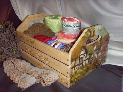 Корзины, коробы ручной работы. Ярмарка Мастеров - ручная работа. Купить Ящик для кухни, для овощей, для рукоделия. Handmade. Ящик, ящики