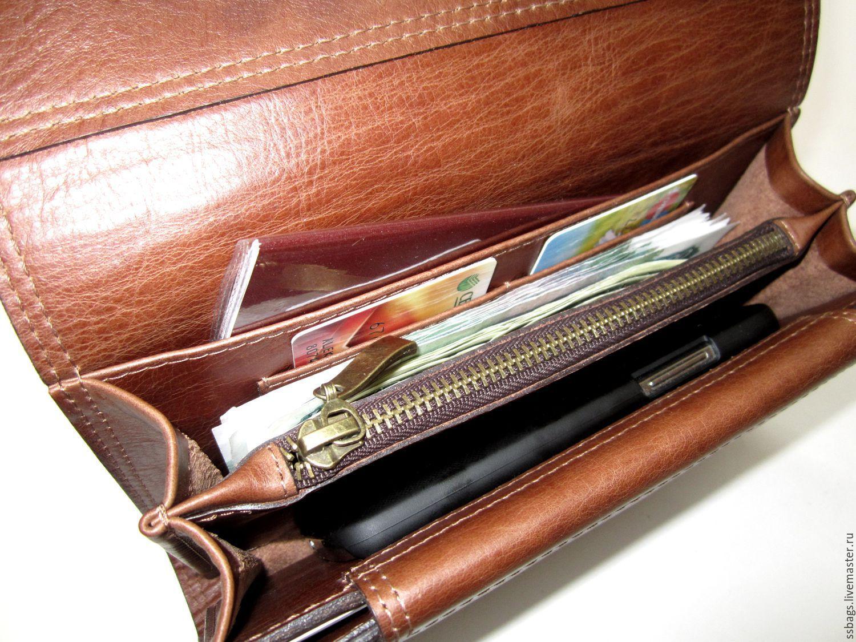 Портмоне-клатч рыже-коричневый- 2, Кошельки, Санкт-Петербург, Фото №1