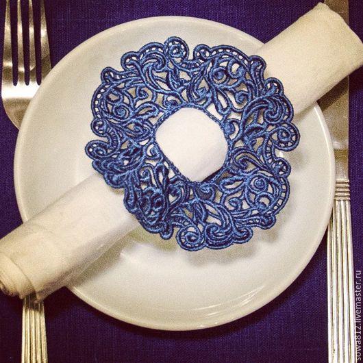 Текстиль, ковры ручной работы. Ярмарка Мастеров - ручная работа. Купить Ажурные кольца для салфеток (машинное кружево). Handmade.