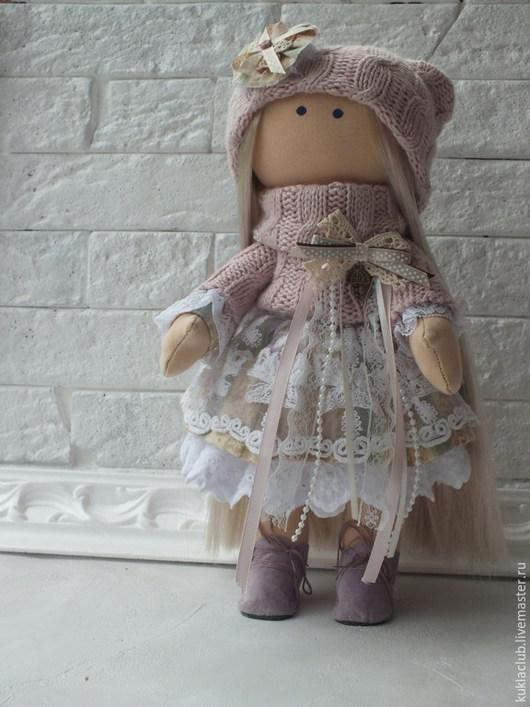 Коллекционные куклы ручной работы. Ярмарка Мастеров - ручная работа. Купить Интерьерная кукла. Handmade. Коралловый, кукла Тильда, купить