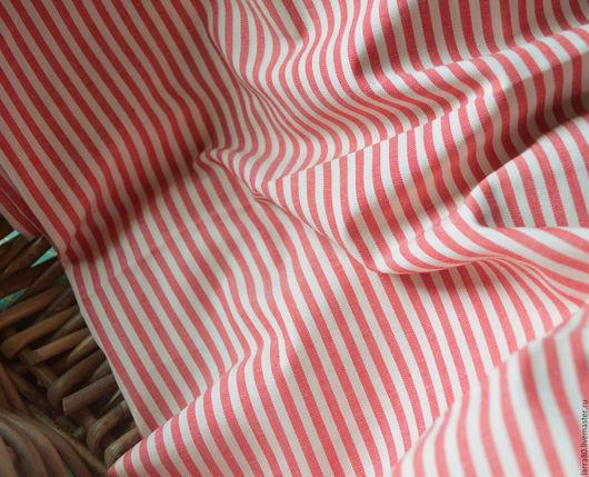 Шитье ручной работы. Ярмарка Мастеров - ручная работа. Купить Хлопок К20-55 красная полоска, Корея. Handmade.