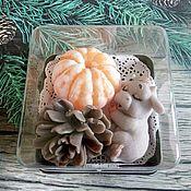 Косметика ручной работы handmade. Livemaster - original item Soap Set Goby tangerine and cone. Handmade.