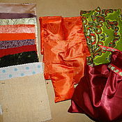 Куклы и игрушки ручной работы. Ярмарка Мастеров - ручная работа Сенсорные мешочки Монтессори и набор тканей. Handmade.