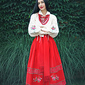 Одежда handmade. Livemaster - original item Embroidered ethno-suit with a skirt