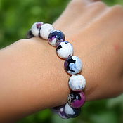 Украшения handmade. Livemaster - original item Unusual women`s bracelet natural agate multicolor. Handmade.