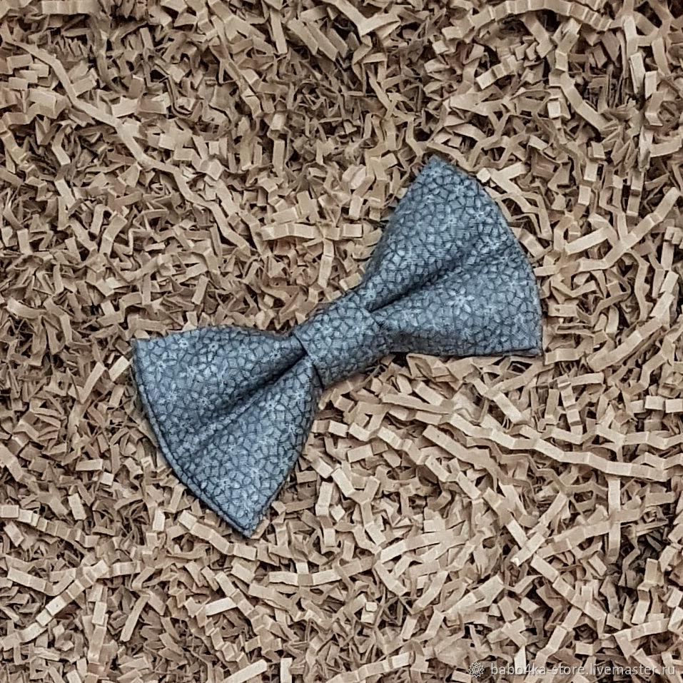 Серый галстук-бабочка с цветочным принтом, Галстуки, Санкт-Петербург,  Фото №1