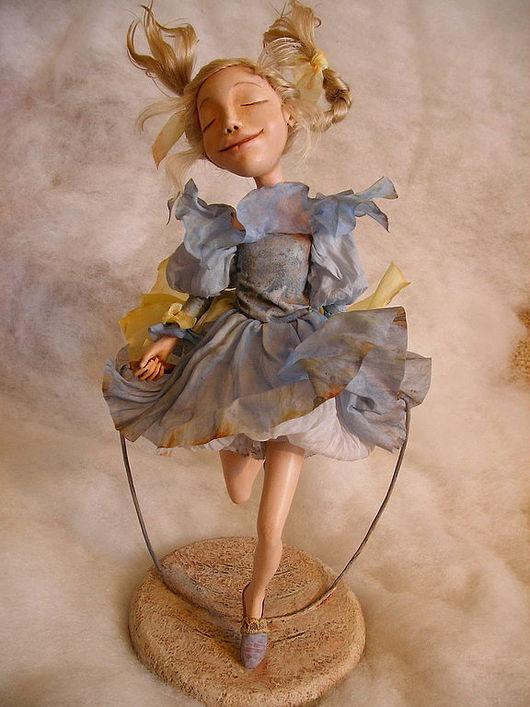 """Коллекционные куклы ручной работы. Ярмарка Мастеров - ручная работа. Купить Кукла """"Попрыгунья"""". Handmade. Кукла, солнце, беззаботность"""