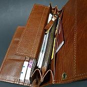 Сумки и аксессуары handmade. Livemaster - original item Wallet leather. Big purse.. Handmade.