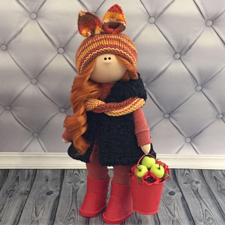 Кукла белочка, Тыквоголовка, Вельск,  Фото №1