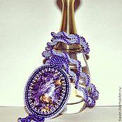 Украшения handmade. Livemaster - original item Bead pendant with charoite