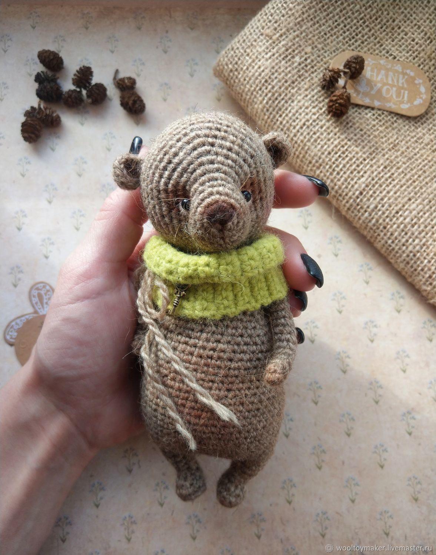 Винтажный медвежонок, вязаная игрушка, Мягкие игрушки, Москва,  Фото №1