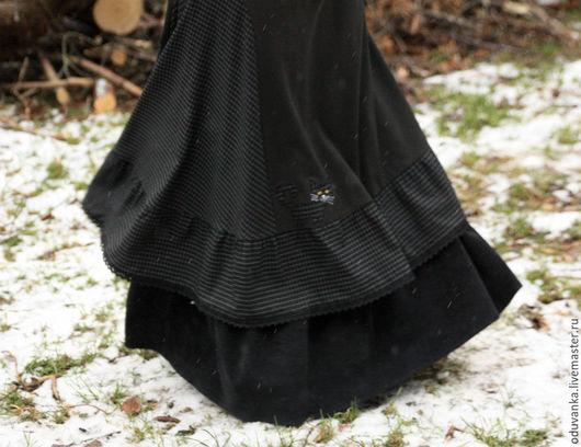 """Юбки ручной работы. Ярмарка Мастеров - ручная работа. Купить Теплая юбка """"Кот-уголек"""". Handmade. Бохо, серый"""