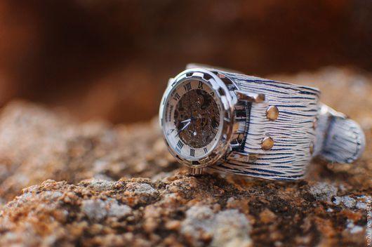 Часы ручной работы. Ярмарка Мастеров - ручная работа. Купить Часы механические наручные Ile de Mar. Handmade.