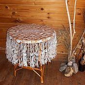 """Для дома и интерьера ручной работы. Ярмарка Мастеров - ручная работа """"Невеста"""" льняная скатерть. Handmade."""