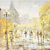 Картины и панно handmade. Livemaster - original item autumn city Moscow. Handmade.