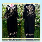 Одежда handmade. Livemaster - original item Dress in the style boho. len. Handmade.