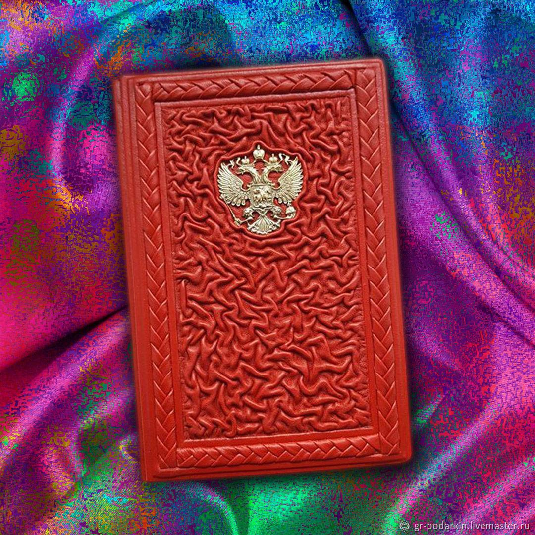 """Обложка на паспорт """"Ваше сиятельство"""" из натуральной кожи, Passport cover, Essentuki,  Фото №1"""