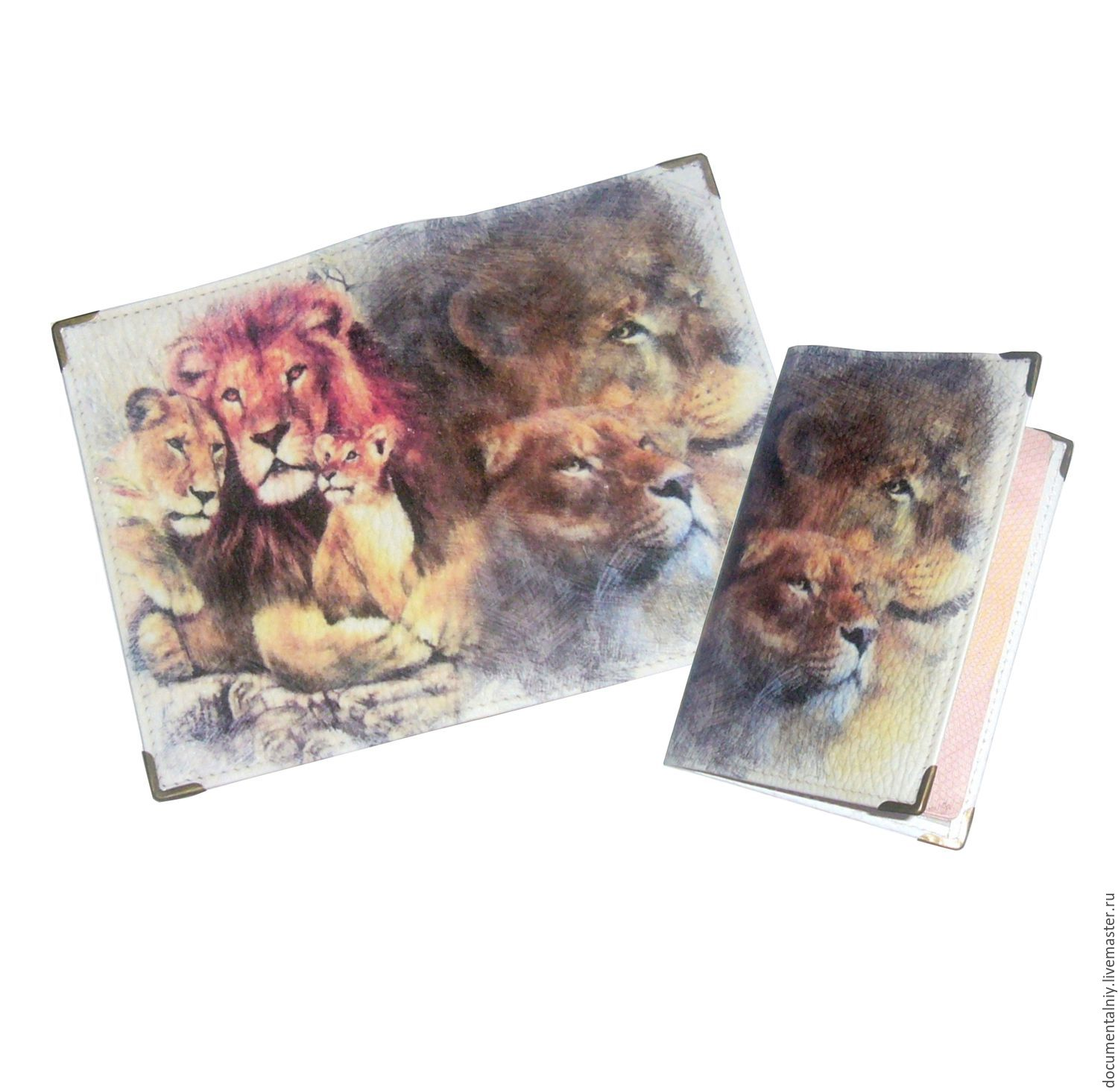 Passport cover, cover (leather) 'LEO', Passport cover, Obninsk,  Фото №1