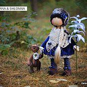 Куклы и игрушки ручной работы. Ярмарка Мастеров - ручная работа куколка Kyana & мишка Sheonna. Handmade.