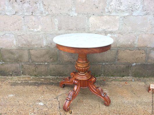 Мебель ручной работы. Ярмарка Мастеров - ручная работа. Купить Столик с мраморной столешнией. Handmade. Комбинированный, винтажная мебель