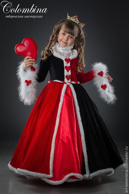 Детские карнавальные костюмы ручной работы. Ярмарка Мастеров - ручная работа. Купить Костюм карточной королевы. Handmade. Ярко-красный
