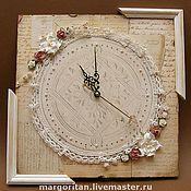 """Для дома и интерьера ручной работы. Ярмарка Мастеров - ручная работа """"Старинные"""" часы. Handmade."""