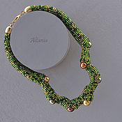 Necklace handmade. Livemaster - original item chameleon. Noon - necklace. Handmade.