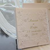 Свадебный салон handmade. Livemaster - original item Personalized wedding photo album in box. Handmade.