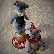 Куклы и игрушки ручной работы. Ярмарка Мастеров - ручная работа Мишка Девочка на Шаре - 14 см - в подарочной коробке. Handmade.