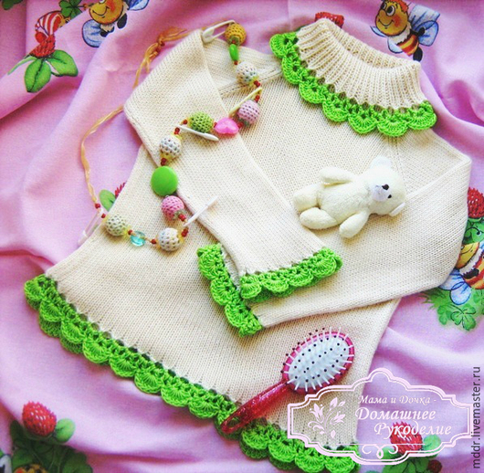 Одежда для девочек, ручной работы. Ярмарка Мастеров - ручная работа. Купить Бамбуковый лес - вязаная кофточка для девочки (бамбук). Handmade.