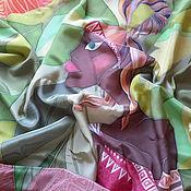 """Аксессуары ручной работы. Ярмарка Мастеров - ручная работа Платок шелк """"Наоми-дочь вождя"""" серия""""Что в имени твоем?"""". Handmade."""