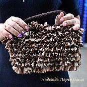 """Классическая сумка ручной работы. Ярмарка Мастеров - ручная работа Сумочка """"Болеро"""". Коричневый,шоколадный, театральная сумочка. Handmade."""